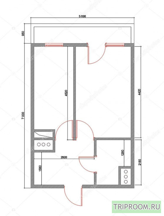 1-комнатная квартира посуточно (вариант № 67797), ул. Фастовская, фото № 14