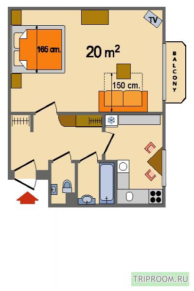 1-комнатная квартира посуточно (вариант № 14430), ул. Гончарная улица, фото № 10