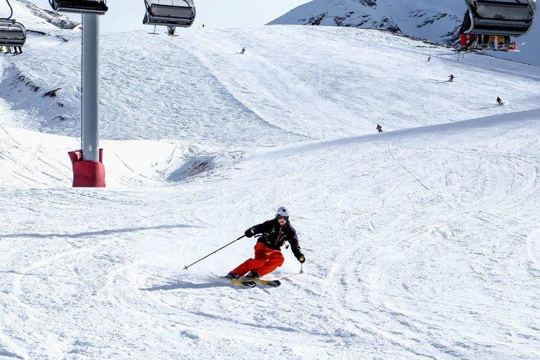 горные лыжи на красной поляне