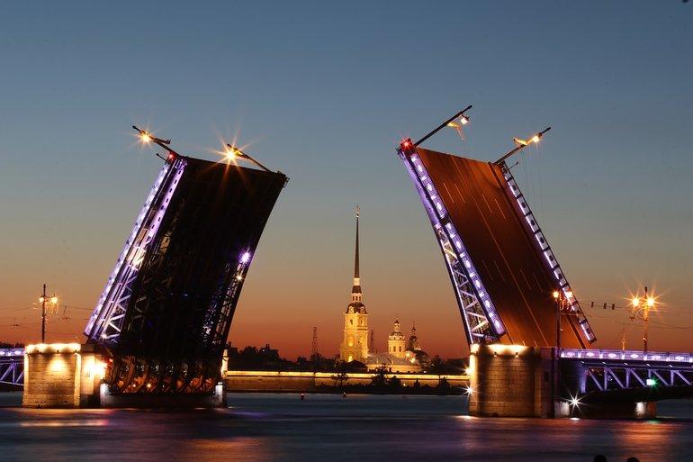 разводные мосты в Питере