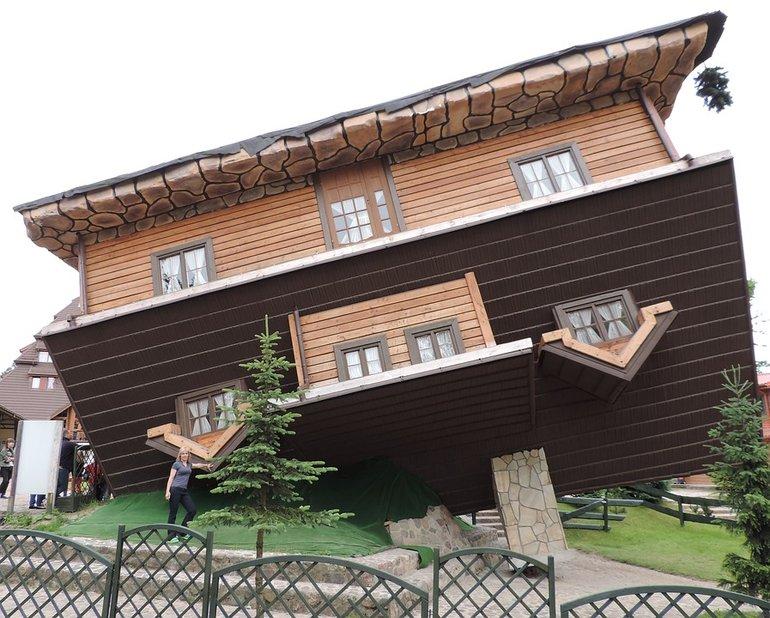 Перевернутый дом  Калининград