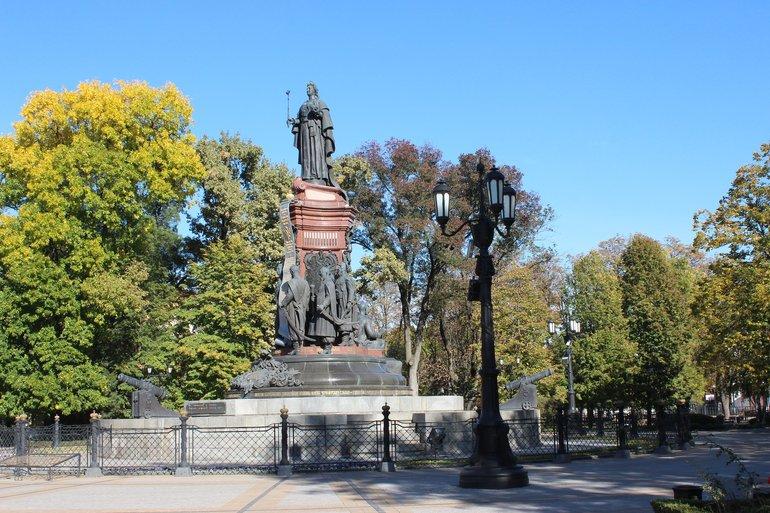 памятник Екатерине II в Краснодаре