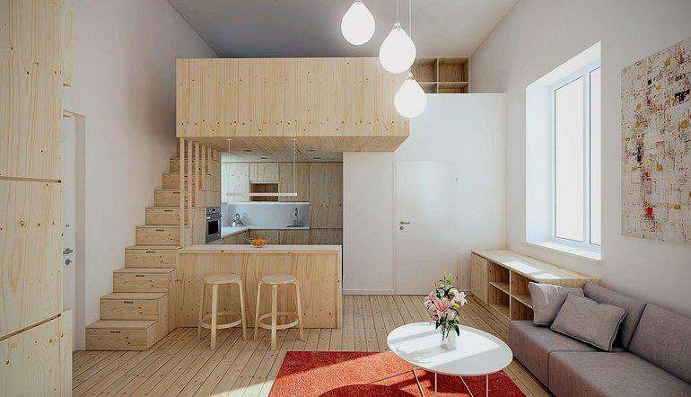 маленькая квартира в Москве